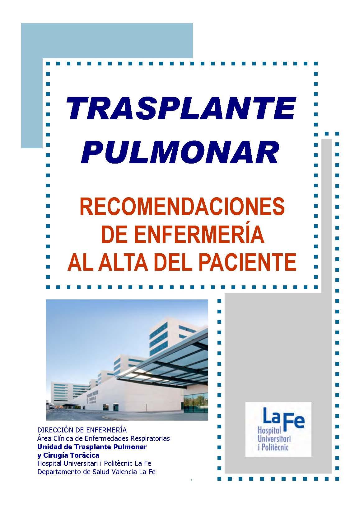 Cartel Recomendaciones Trasplante Pulmonar