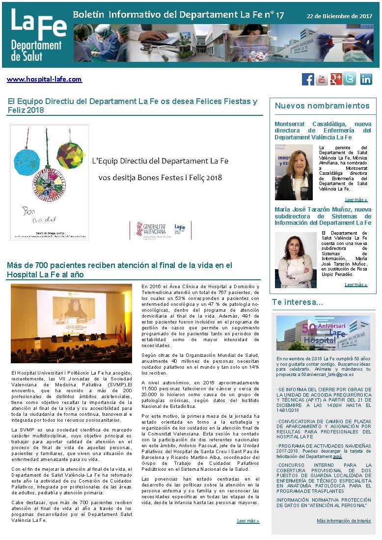 Boletín Informativo del Departament La Fe n.17