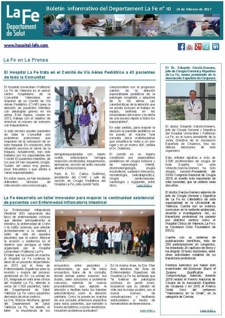 Boletín Informativo La Fe n.10