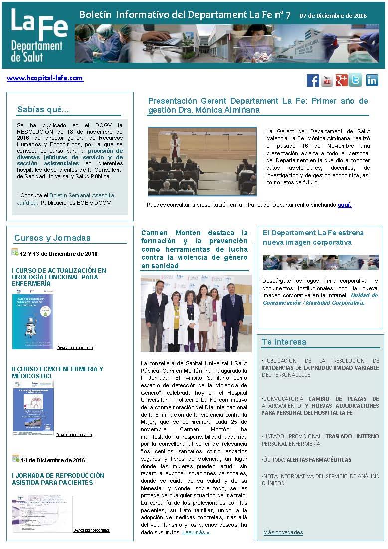 Boletín Informativo La Fe n.7