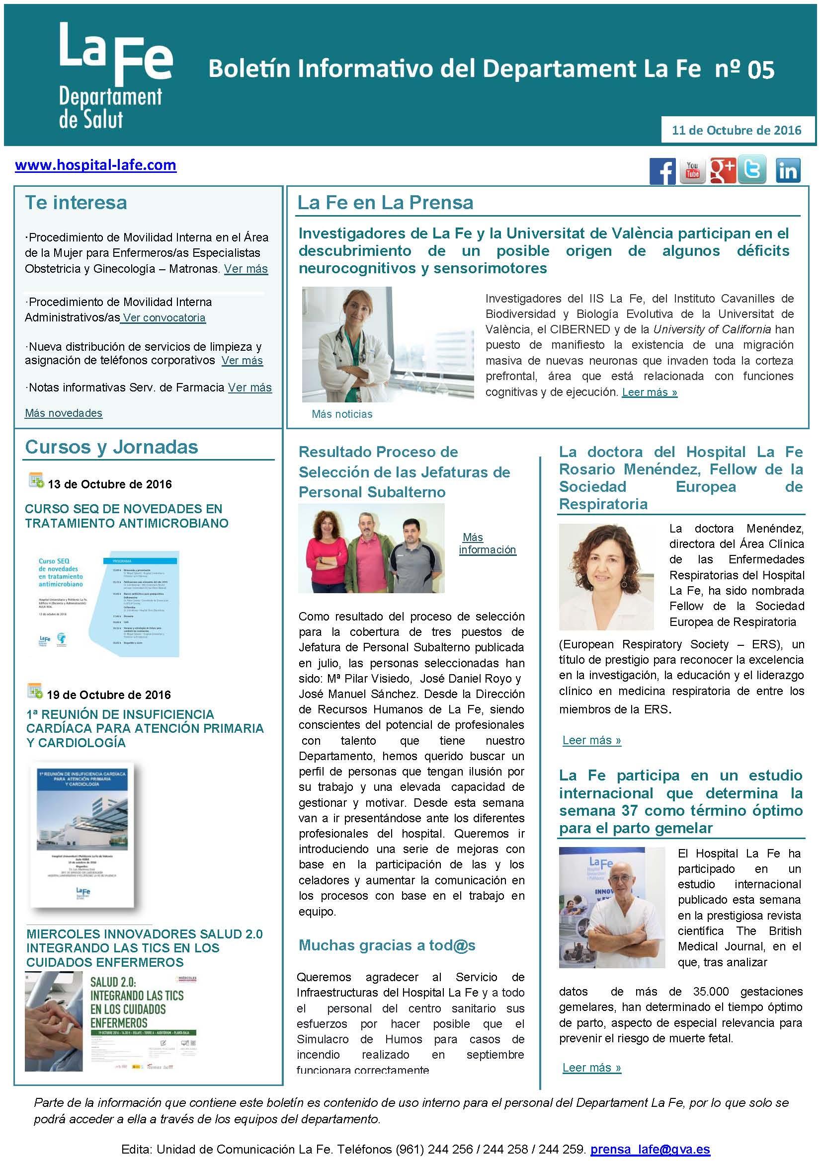 Boletín Informativo La Fe nº 5