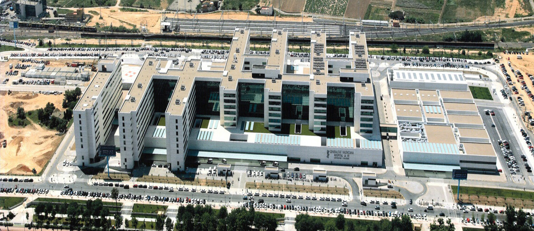 Fotografía aérea Hospital La Fe Malilla