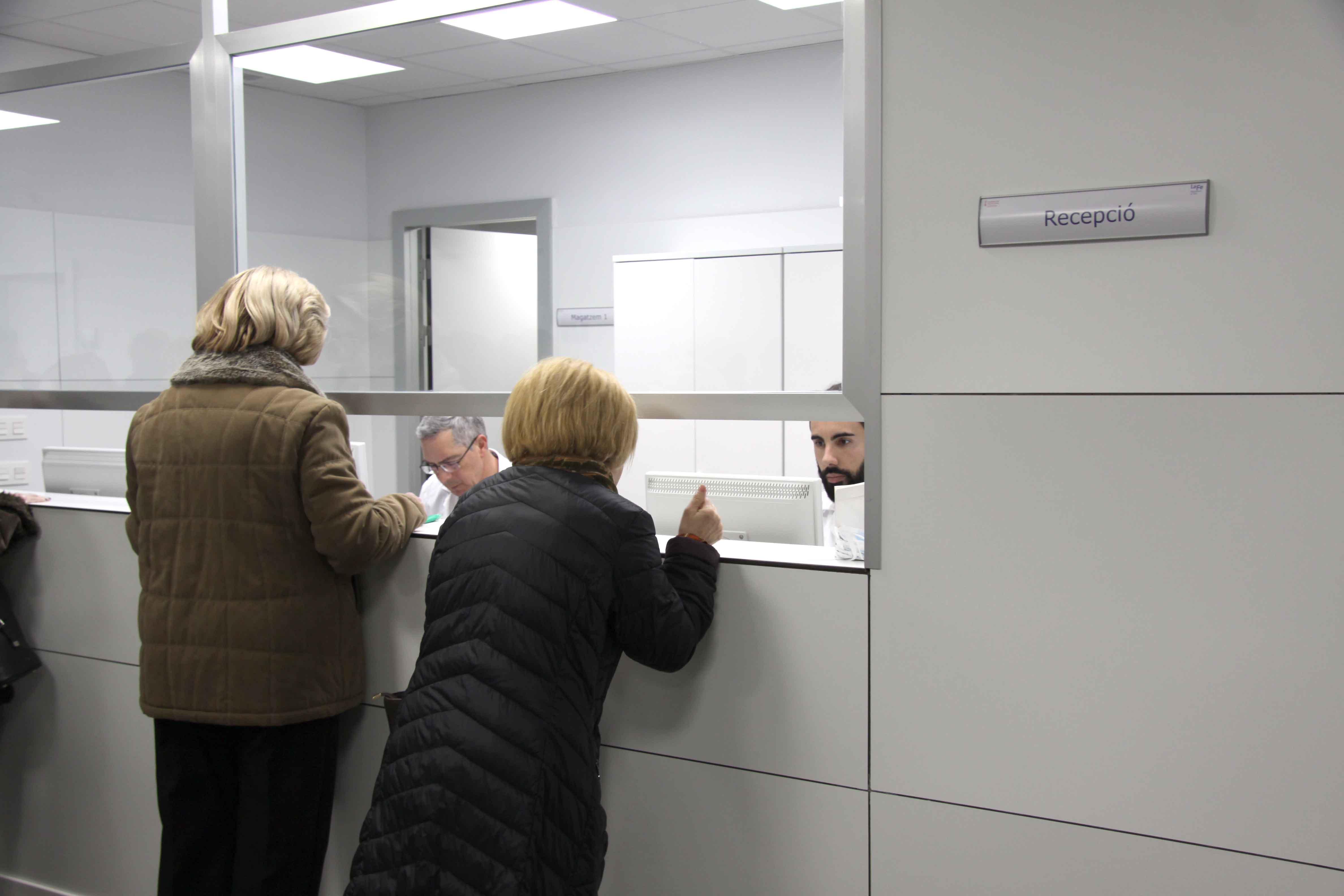 Mostrador centro de salud